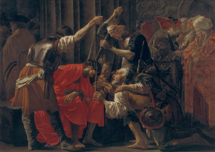 Brugghen, Hendrick Ter: Christ Crowned with Thorns. Fine Art Print/Poster. Sizes: A4/A3/A2/A1 (002165)
